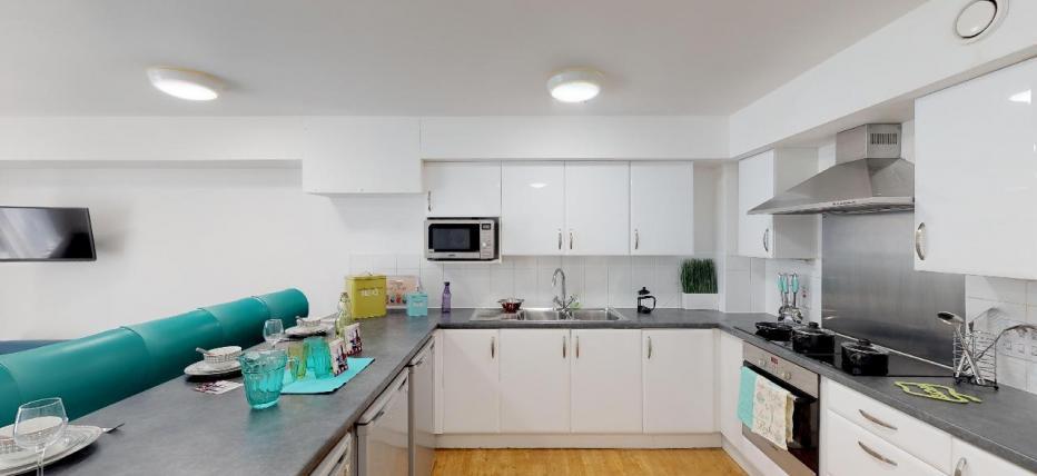 Large communal kitchen area