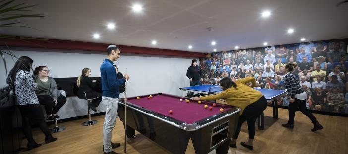 Communal Room with Pool Table