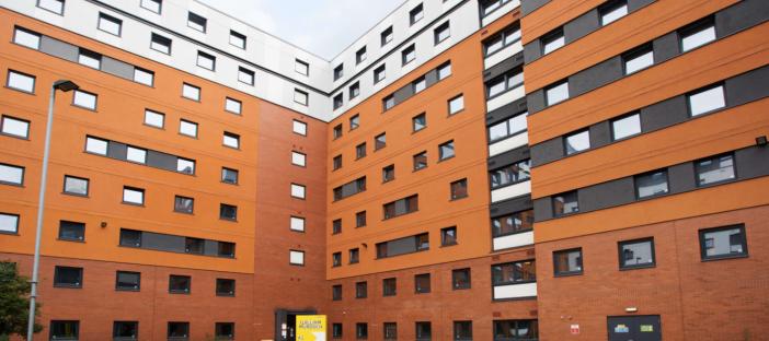 Exterior image of building, windows