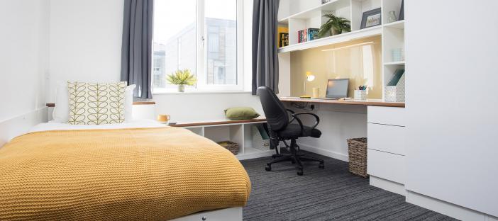 Turing Flats en-suite bedroom